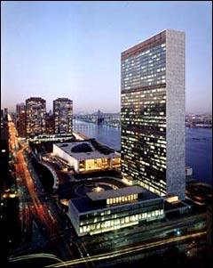Vitres teintées pour bâtiment: le cas du secrétariat des Nations Unis