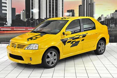 Sao Paolo 2008 - Renault Dacia avec des vitres teintées de protection solaire