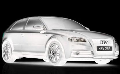 Audi A3 Black Edition sous un autre angle...