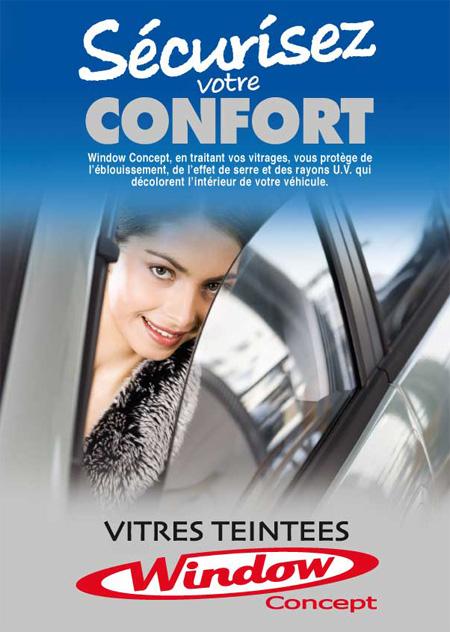 Window Concept, en traitant vos vitrages, vous protège de l'éblouissement, de l'effet de serre et des rayons ultraviolets qui décolorent l'intérieur de votre véhicule.