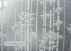Film d'agencement, personnalisation de vitrages. Permet de décorer un vitrage tout en préservant l'intimité sans réduire la luminosité. Effet papier de riz à motif bambous. Idéal pour le vitrage des bureaux, locaux informatique, ateliers, décoration de vitrines.