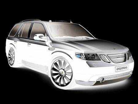 Saab Concept SUV Vitres Teintées Noires Design