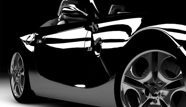 Une superbe BMW décapotable en vitres teintées