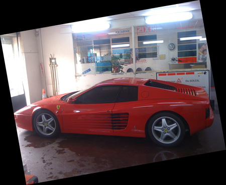 Ferrari Testarossa en Vitres Teintées
