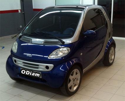 Vitre teintée voiture Smart et film solaire auto dans les Alpes Maritimes (06)