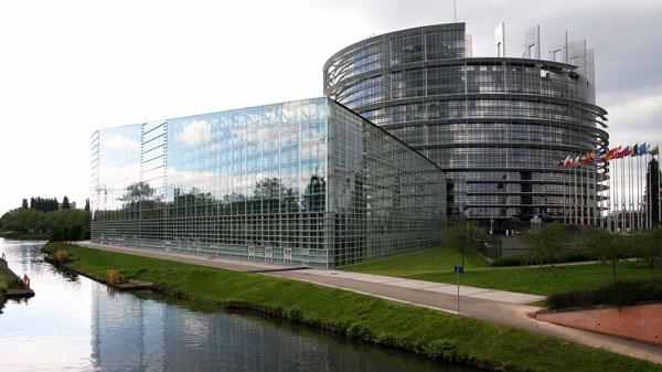 Traitement de vitrage bâtiment et immeuble du parlement européen