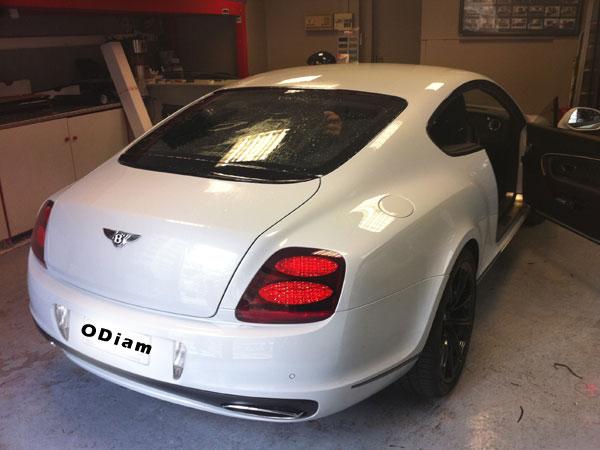 Vitre teinté voiture Bentley