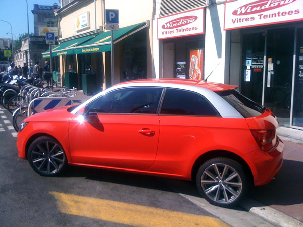 Pose film vitres teintées Audi A1
