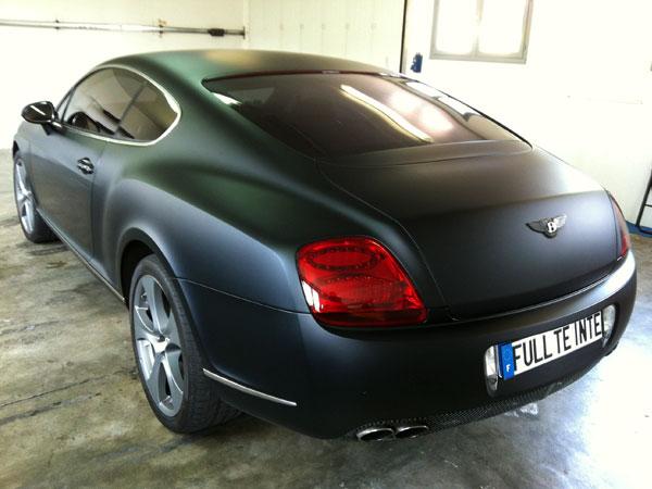 Vitre teintée d'un magnifique Bentley Continental