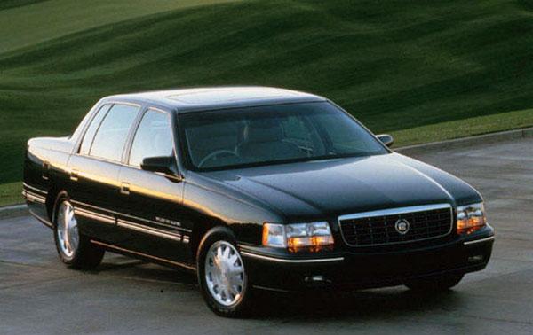 Vitres teintées d'une limousine Cadillac Deville