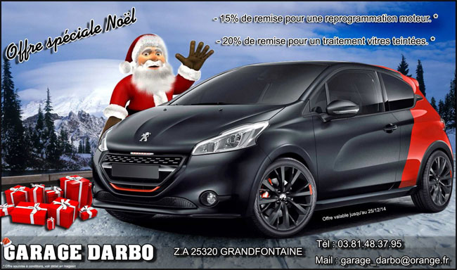 Garage darbo promotion pour vos vitres teint es for Garage peugeot le baron brunoy
