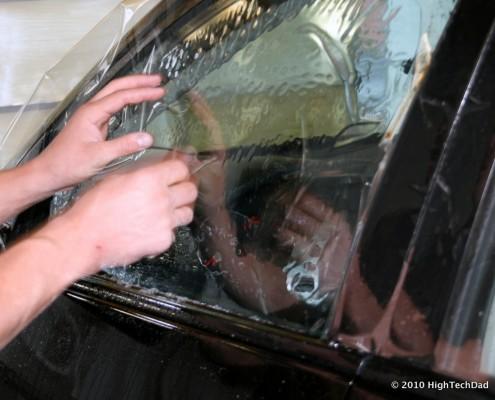 Supprimer film teinté sur votre auto