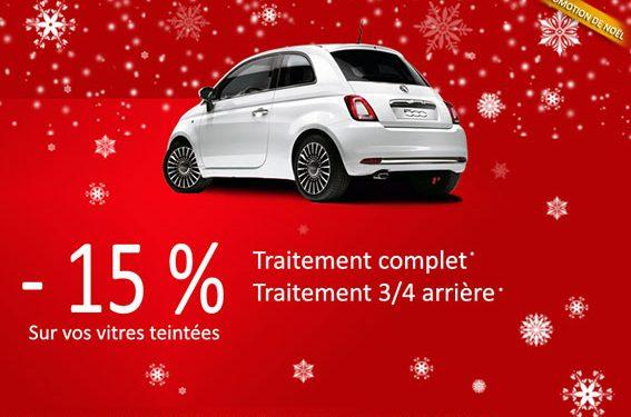 Promotion de Noël à Besançon pour vos vitres teintées automobile