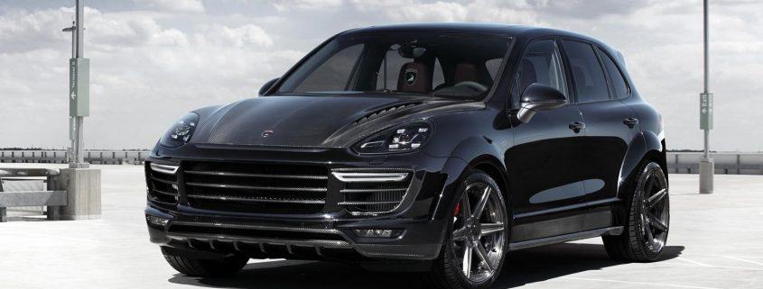 Porsche Cayenne, avec vitres teintées